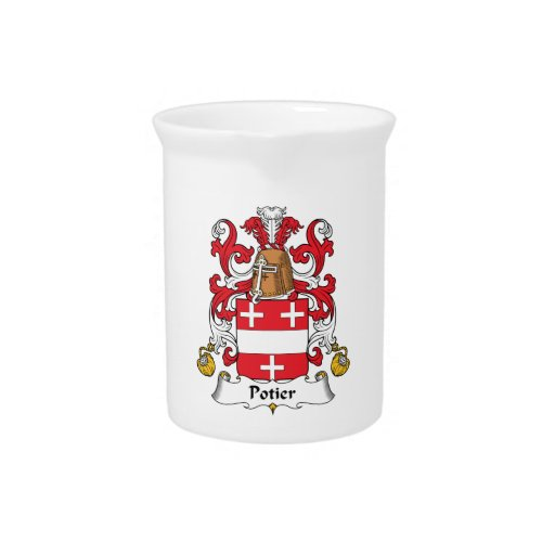 Potier Family Crest Drink Pitcher
