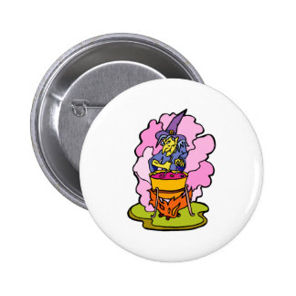 Potion brewing witch pinback buttons