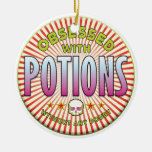 Potions Obsessed R Double-Sided Ceramic Round Christmas Ornament