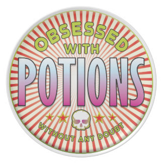 Potions Obsessed R Party Plates