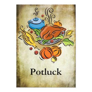 "Potluck Invitación 5"" X 7"""