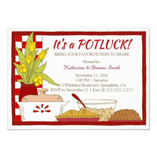 free potluck dinner invitation templates