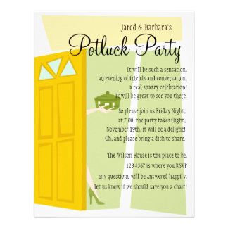 Potluck Party Custom Announcements