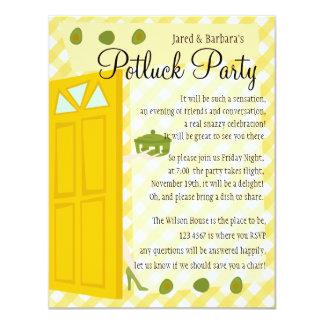 Potluck Party 4.25x5.5 Paper Invitation Card