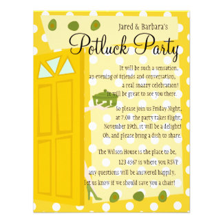 Potluck Party Custom Invitation