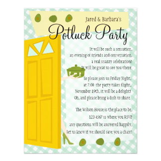 Potluck Party Announcements
