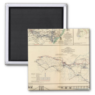 Potomac Army operations 2 Inch Square Magnet