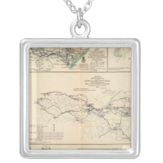 Potomac Army operations Square Pendant Necklace