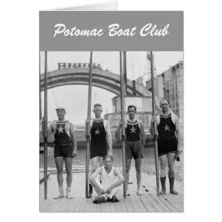 Potomac Boat Club Crew, 1921 Card