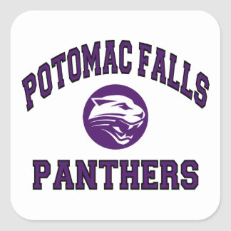 Potomac Falls Panthers Square Sticker