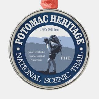 Potomac Heritage Trail Metal Ornament
