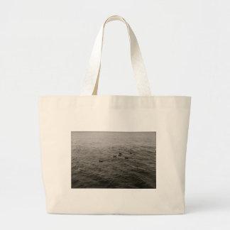 Potomac river ducks jumbo tote bag