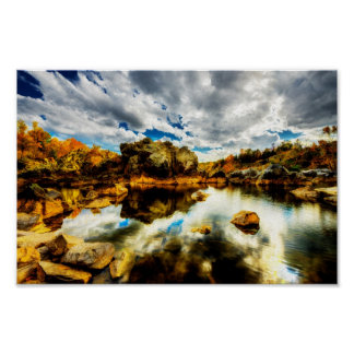 Potomac River Lagoon in Autum Colors Posters