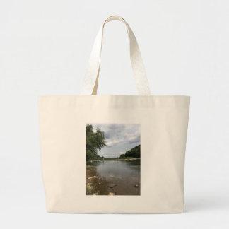 Potomac River through Harpers Ferry, WVA Large Tote Bag
