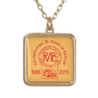 Potomac Valley Pekingese Club Rescue Square Pendant Necklace
