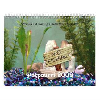 Potpourri 2009 calendar