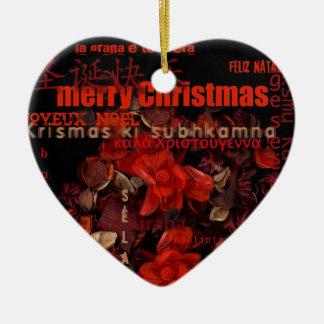 Potpourri Christmas Navidad Noel Heart Ornament