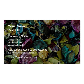 Potpourri  flowers business card templates
