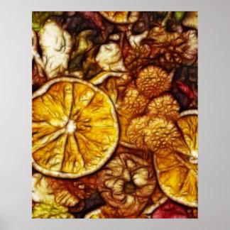 Potpourri Oranges Fractal Print