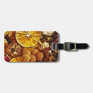 Potpourri Oranges Fractal Travel Bag Tags