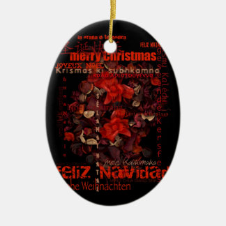 Potpourri World Christmas Navidad Message Ornament