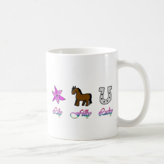 Potra del lirio afortunada taza de café