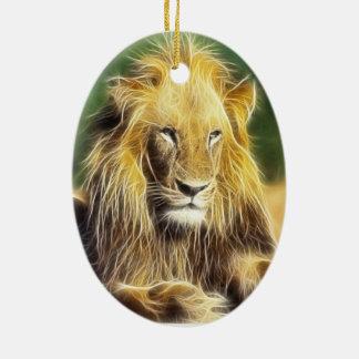 Potrait lion ceramic ornament