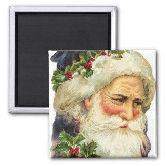 Potrait of Father Christmas Vintage Magnet