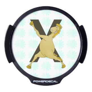Potro ágil del monograma X modificado para Sticker LED Para Ventana