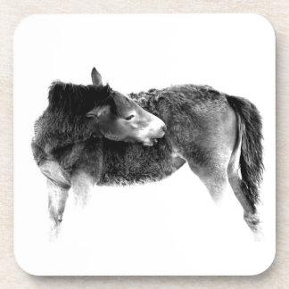 Potro artístico del caballo salvaje posavaso