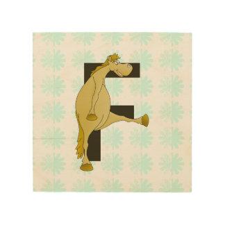 Potro de la letra F del monograma Cuadros De Madera