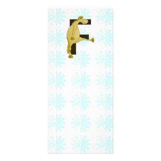 Potro de la letra F del monograma Plantillas De Lonas