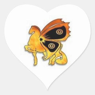 Potro de la llama pegatina en forma de corazón