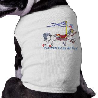 ¡Potro del carrusel en el juego! Perrito T Playera Sin Mangas Para Perro