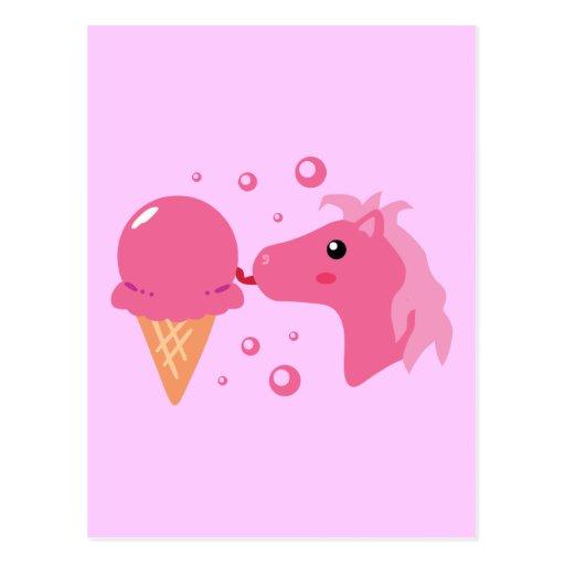 Potro del helado postales