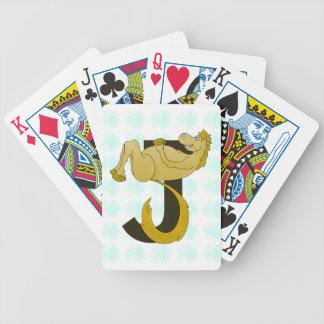 Potro flexible del monograma J personalizado Baraja Cartas De Poker