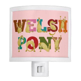 Potro galés para los chicas luz de noche