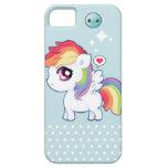 Potro lindo del arco iris de Kawaii iPhone 5 Case-Mate Carcasa