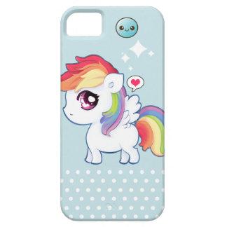 Potro lindo del arco iris de Kawaii iPhone 5 Cárcasas