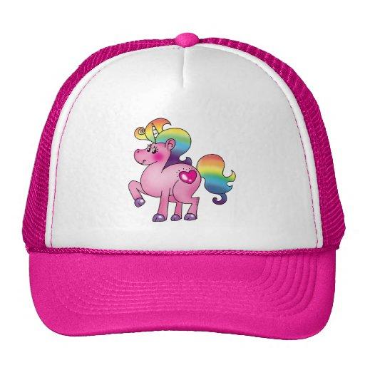 potro lindo del unicornio gorro de camionero