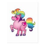 potro lindo del unicornio postal