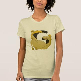 Potro lindo G del monograma del dibujo animado Camisetas