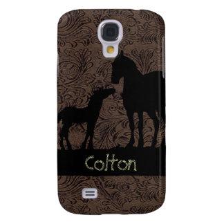 Potro occidental 3G/3GS de la yegua de los caballo Funda Para Galaxy S4