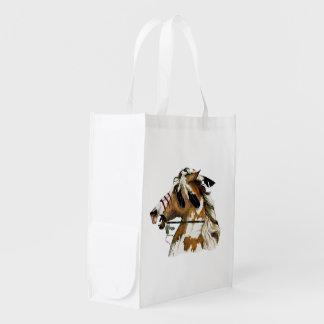 Potro pintado bolsa reutilizable