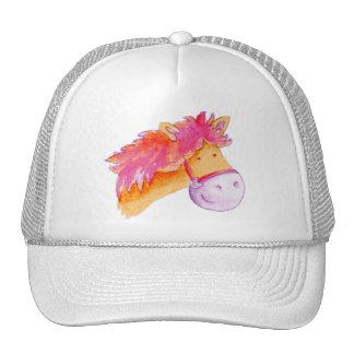 Potro pintado lindo/gorra ilustrado caballo gorra