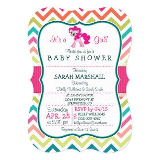 Potro rosado; Fiesta de bienvenida al bebé Invitación 12,7 X 17,8 Cm