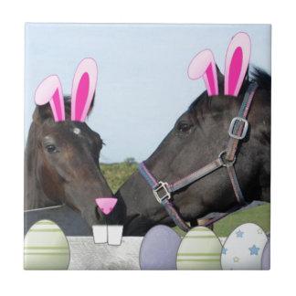 Potro y caballo de Easte Azulejo Cuadrado Pequeño