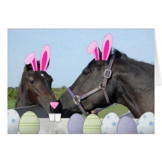 Potro y caballo de Easte Tarjeta De Felicitación