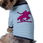 Potros británicos de la silueta del jugador del ca camiseta de mascota