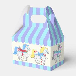 Potros del carrusel caja para regalos de fiestas